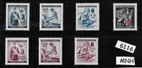 #6116     MNH Third Reich set / Nurses &  Red cross / WWII  Occupation 1940-1943