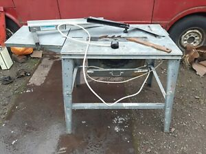 """CONTRACTORS WOOD SAW BENCH 12 """" TIPPED BLADE WITH GIUDE + STAND NO RESERVE SALE"""