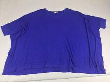 Bordeaux Blue Oversized Dolman Tunic Top Shirt B Neck M L Medium Large