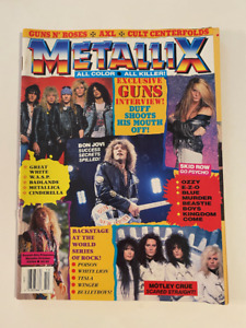 METALLIX October MAGAZINE 1989 Guns N Roses Motley Crue Skid Row