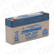 Power Sonic Rechargeable Battery 6 Volt 1.3Ah alarm battery