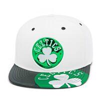 Mitchell & Ness Boston Celtics Snapback Hat Cap White/Black/Green/Patent Leather