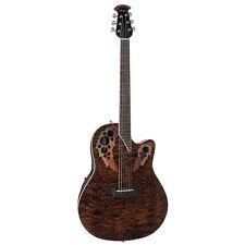 Ovation Celebrity Elite poco profondi, chitarra elettrica acustica scuro occhio di tigre