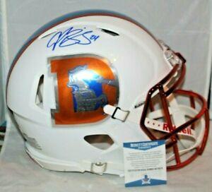 Champ Bailey Autographed Signed Denver Broncos Custom Full Size Helmet BAS 1