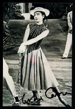 Leslie Caron foto original firmado # bc 33087