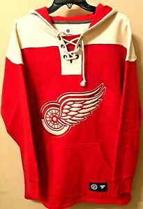 NEW Detroit Red Wings Fanatics NHL Pullover Hoodie Pockets Size: Medium