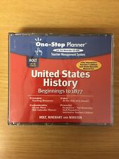 Holt U.S. History Cd-Rom One-Stop Planner Beginning to 1877 Teacher Edition New