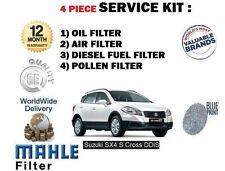 PARA SUZUKI SX4 S CROSS 1.6dt DDiS 2013- > Aire Aceite Gasolina Filtro De Polen