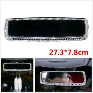 PVC+Bling Rhinestone Car Interior Rearview Mirror Decor Accessories For Girls
