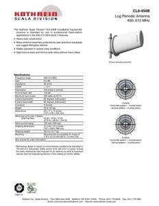 kathrein antenna frequency 400-512 MHz max output 500 watts