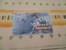 >> AFTER BURNER SEGA ARCADE ORIGINAL JAPAN TELEPHONE PHONE CARD! <<