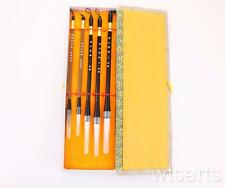 Delux Five Chinese Calligraphy Brushes in box set. Art and Painting Sumi - E