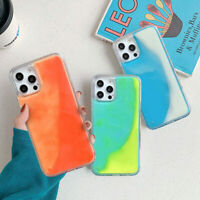 Glow Luminous Dynamic Liquid Hybrid Case Cover For iPhone 12 Pro Max 11 XR XS X