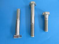 2 Edelstahl Sechskant Schrauben DIN 931 M10 x 90 mm V2A  ISO 4014