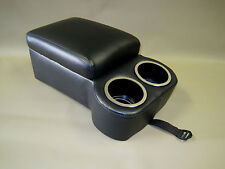 Sierra Black Seat Console With Flip Up Armrest and Cup Holders