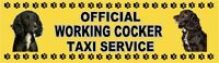 WORKING COCKER OFFICIAL TAXI SERVICE  Dog Car Sticker  By Starprint