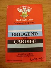 11/04/1981 Rugby Union: Welsh Cup Final, Bridgend v Cardiff [At Cardiff Arms Par