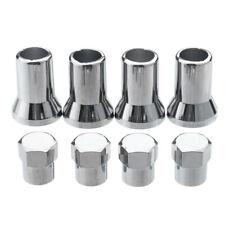 4PCS/set Chrome Silver Plastic Wheel Tyre Tire Valve Dust Caps+Stem Covers TR413