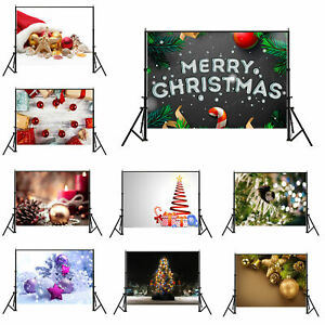 Merry Christmas Backdrop Cloth Photography Background Props 5x3ft/7x5ft