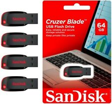 Lot of 4 Sandisk 64GB CRUZER BLADE USB 2 Flash Drive Thumb Pen SDCZ50 Wholesale