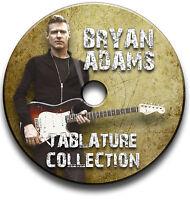 BRYAN ADAMS ROCK GUITAR TAB TABLATURE SONG BOOK SOFTWARE CD