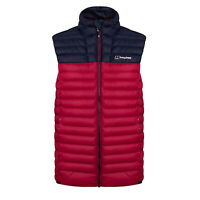 Berghaus Vaskye Mens Sleeveless Gilet Vest Jacket Red/Navy Blue - L