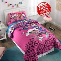 LOL Surprise Bedding Set L.O.L. Kids Comforter Sheets Pillow Case Pink Twin Size