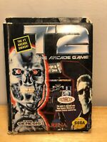 T2: The Arcade Game Sega Genesis Game Complete In Box Terminator 2 Vintage 1992