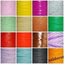 36 Colours RAFFIA Ribbon Cut Lenght 1~5~10~20m  FLOWERS GIFT WRAPPING CRAFTS