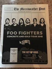 foo fighters memorabilia Concert Tour RARE 2018 MD Venue Brochure Book Keepsake