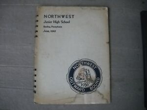 1945 Northwest Junior Jr. High School Yearbook Reading Pennsylvania Pa.