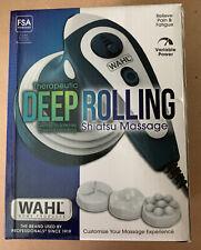 Wahl Deep Rolling Shiatsu Handheld Massager, Full Body Massage NIB (Q)