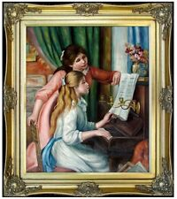 Framed, Renoir Girls at Piano Repro, Quality Hand Painted Oil Painting 20x24in