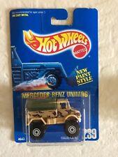 HOT WHEELS 1991 BLUE CARD MERCEDES-BENZ UNIMOG WHITE CT  #239