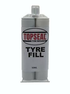 Tyre Repair Fill Rubber Filler Cartridge 50ml Fills Cuts In Tyres