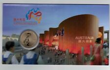 2010 Shanghai World Expo $1 Coin Uncirculated  On Info Card From Perth Mint
