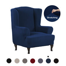 Stretch Wing Chair Cover Slipcover Wingback Armchair Protector Furniture Cover