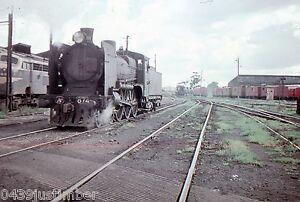 Victorian Railways Steam A2 874 Running past North Melbourne Loco Depot 1963