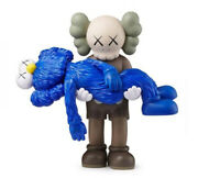 "KAWS GONE ""Blue Edition"" 2019 (Brown Companion carrying a blue BFF) NEW IN BOX"