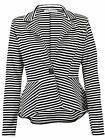 New Women's Ladies Elegant Office Peplum ONE Button Blazer Jacket Coat Size 8-26