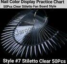 Nail Polish Practice Display Chart False Nail Art Tips Sticks/Rings - Jargod