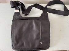 TUMI Black Leather Organizer Sling Crossbody Shoulder Travel Bag