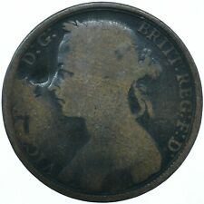 1890 ONE PENNY GB UK QUEEN VICTORIA BEAUTIFUL COLLECTIBLE COIN      #WT31307