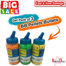 6000 Pcs 6mm BB Pellets Bullets For BB Gun,Plastic Toys Color May Vary Pack Of 3