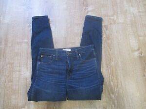 "Madewell Womens 10"" High Rise Skinny Jeans Dark Wash Size 29 Stretch"
