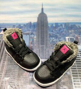 Nike Jordan 1 Retro High GT Black/Deadly Pink TD Toddler Size 7c 705324 014 New