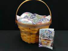 2000 Longaberger May Series Morning Glory Basket, Protector & Liner 18899 (L2)