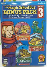 Magic School Bus Bonus Pack # 3  Whales Dolphins Lands on Mars Volcano PC Games