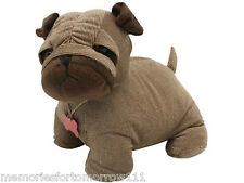 IN STOCK!  Shabby French Provincial  Fabric Cute Dog Pug Door Stop Stopper