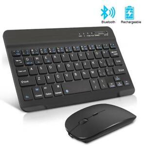 Mini Keyboard Mouse Rechargeable Bluetooth Wireless Noiseless Ergonomic Device